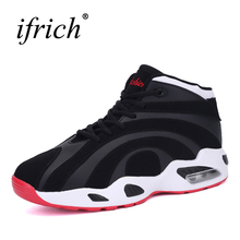 2017 New Couples Basketball Shoes Air Cushion Lace Up Male Basketball Boots Brand Women Sneakers High Top Athletic Trainers(China)