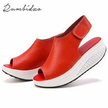 Rumbidzo 2017 Summer Women Sandals Peep Toe Swing Shoes Ladies Platform Wedges Sandals Woman Sandalias Zapatos