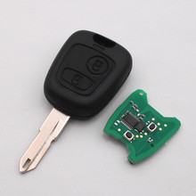 Remote Control Key 2 Buttons 433Mhz for PEUGEOT 106 107 206 207 Car Keyless Entry Fob NE72 Blade