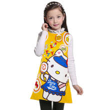 3 4 5 6 7 8 9 10 11 12 Years Kids Girls Dress Hello Kitty Summer Baby Clothes Girl's Wear birthday party Children Clothing(China)
