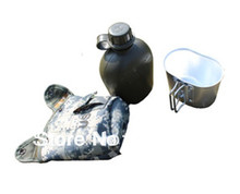 1L canteen military us bottle & aluminum lunch box army bottle cup outdoor camping cooking sets Free shipping