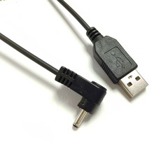 usb2.0 usb to dc3.5 1.35 charger cable sprial cable l shape usb to dc coiled cable(China)