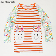 Sun Moon Kids Cartoon Dresses For Girls 2017 Autumn Long Sleeve Girl Toddler Dress With Pockets Brand Birthday Children Costumes(China)