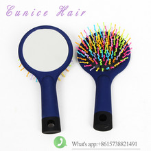 body wave hair Comfortable mirror Comb Brush Rainbow Volume Styling Tools Anti-static Head Massager Hairbrush With Mirror