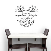 EHome Family Is Not An Important Thing It'S Everything Wall Stickers Inspiring Words Stickers Home Decor Vinyl Art Decals(China)