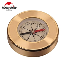 NatureHike Mini Military Camping Marching Lensatic Compass Magnifier Gold Wild Survival Navigation Noctilucent High Quality(China)