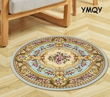 Europe Round Carpet Non-Slip Floor Rugs Yoga Mat For Bedroom Parlor Living Room Round Play Carpet Computer Chair Hang Basket Mat(China)