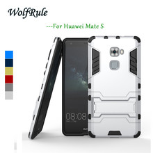 WolfRule Anti-knock Case Huawei Mate S Cover Silicone & Slim Plastic Case For Huawei Mate S Case MateS Phone Holder Stand Funda