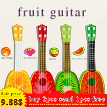 hot toy musical instrument fruit guitar children kids woodem guitar high quality baby birthday christmas gift toys dropshipping(China)