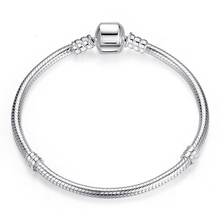 BAOPON New High Quality DIY Silver Plated Chain Fit Pandora Bracelet&Bangle Handmade Love Beads Fashion Bracelets Gift for Women