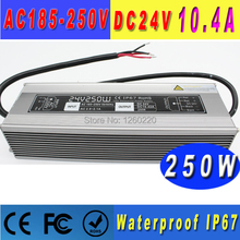 Single Output Constant Voltage 24v Waterproof Switching Power Supply Ip67 10.4a 250w Transformer 220v 24v Smps For Led Strip(China)