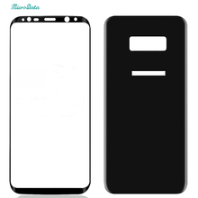 50pcs/lot DHL free Front + back screen protector for Samsung Galaxy S8 tempered glass film guard 3D full cover for s8plus saver(China)