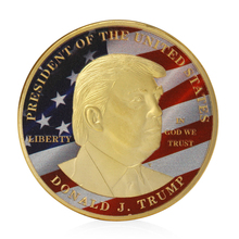 Donald Trump Make America Great Again President Commemorative Challenge Coin New(China)