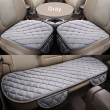 Winter warm car seat cover soft velvet Car Seat Cushion front back car chair pad universal size 3pcs/set(China)