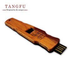 Original Retro Guqin-shape wooden zither small model ornament miniature usb flash drive memory Stick pendrive 4G 8G high quality(China)
