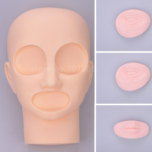 Professional 3D Permanent Makeup Mannequin Head Tattoo training head model head With 2Pcs Eyes + 1Pc mouth