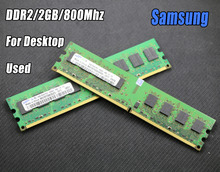 Used original samsung 2GB DDR2 PC2-6400 800MHz 667Mhz Desktop PC DIMM Memory RAM 240 pins For intel for amd 2g 800 667(China)