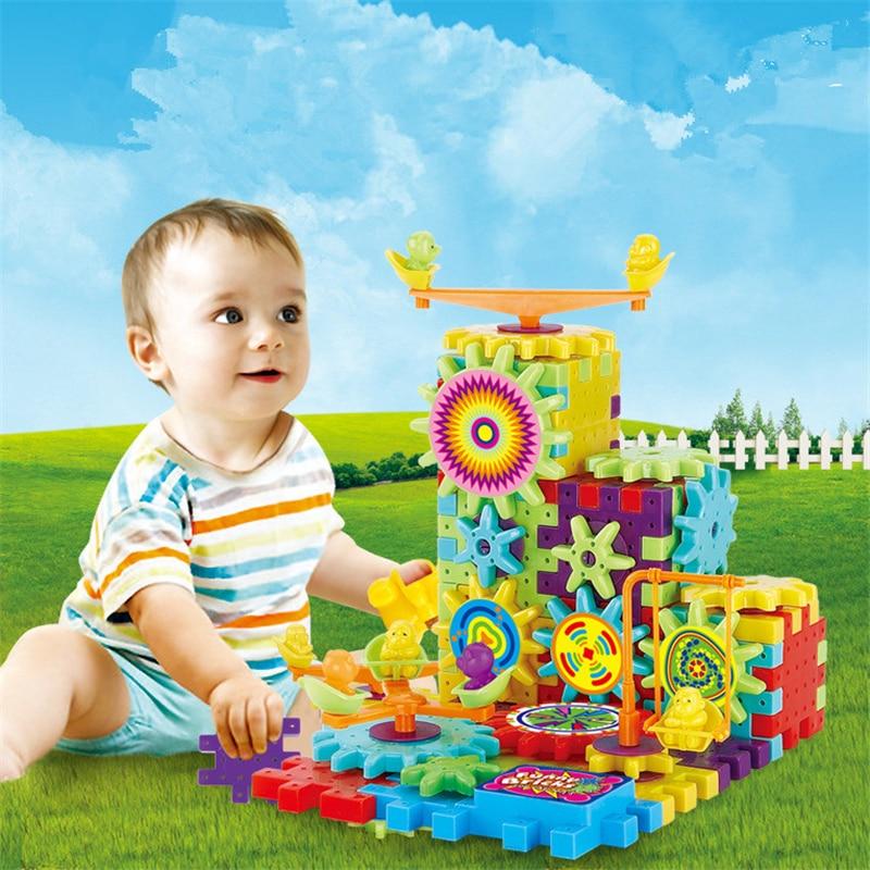 7-14s amazing electric block assembling toys 81 mechanical gear gift toys intellectual development<br><br>Aliexpress