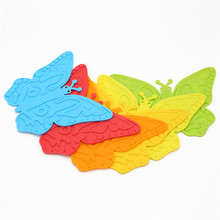 1pcs Butterfly Silicone Coffee Table Cup Mats Pad Placemat Cup Coaster Cooking Tools D0