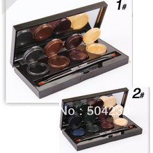 8 Color Mineral Pigment Eyeliner Eyeshadow Cream Palette Smoky Eyes Makeup Set With Brush Wholesale
