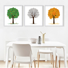 Nordic modern minimalist apple tree Print Wall Canvas Art Painting No Frame Living Room Home Decor(China)