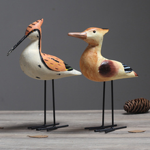 Creative Nordic Style Dekor Wood carved decoration lover bird Office Desk Decor Bar Entrance Hall ornaments wedding wooden gifts(China)