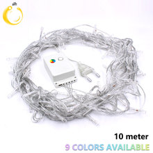 String Light 100 LED 10M Christmas/Wedding/Party Decoration Lights garland AC 110V 220V outdoor Waterproof led lamp 9 Colors