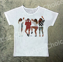 Track Ship+New Vintage Retro T-shirt Top Tee Four House Wife Women Friend Make Pose 1187(Hong Kong)