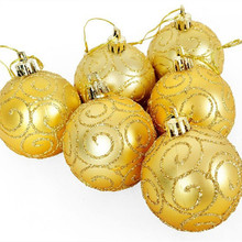 2017 new 30 pieces Christmas Tree Ornaments 6cm gold gilt matte painted high quality christmas ball