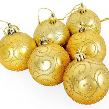 2017 new 30 pieces Christmas Tree Ornaments 6cm gold gilt matte painted high quality christmas ball(China)