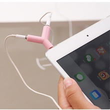 3.5mm universal 1 to 2 Audio Earphone Adapter Case For apple iphone 4s 5 5s 6 6s 7 plus pad xiaomi Huawei p8 p9 lite galaxy tab