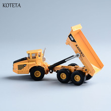 Koteta Diecast Mini Alloy Construction Vehicle Engineering Car Bulldozer Dump truck Model Classic Toy for Boy Kids Birthday Gift(China)