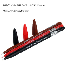 Brown/Red/Black Color Microblading marker pen for Eyebrow/Eyebrow/Lip Microblading tattoo design Permanent Makeup Outliner