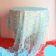 Tiffany Blue Lace Table Cloth For Weddings Signature Table Rose Petals Wedding Curtain Backdrops For Welcome Champagne Table