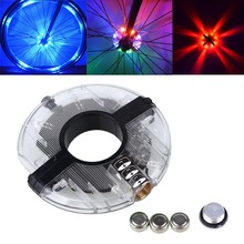 8 LED 3 mode Bicycle Cycling Hubs Light Bike Front/Tail Light Led Spoke Wheel Warning Light Bike Accessories(China)