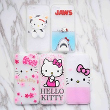 Cartoon Cute Hello Kitty Case For iphone 6 6S Plus 7 Plus Phone Silicon Cover For iphone funda coque Capa Full Protective Case