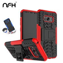 Original NFH Mixing Plastic Hard Armor Case For Samsung Galaxy S8 S8 Plus Slim Phone Case for Samsung S 8 Silicon Back Cover(China)