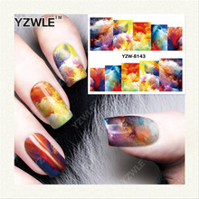 YZWLE 1 Sheet DIY Decals Nails Art Water Transfer Printing Stickers Accessories For Manicure Salon YZW-8143