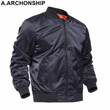 Brand 2017 Black Thin MA1 Autumn Summer Men's Bomber Flight jacket Air Force Baseball Military Outwear hip hop coats streetwear(China)