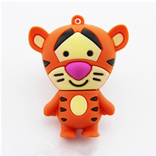 Mini Tiger model pendriver 2gb 4gb 8gb 16gb usb flash drive cartoon Tigger 32gb 64gb usb pen drive memory Stick U disk cute gift
