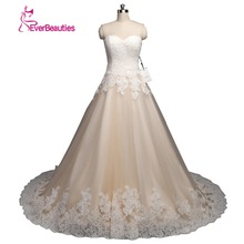Sexy A line Wedding Dresses 2017 Lace Tulle Appliques Imported Wedding Dresses Vestidos De Noiva Sereia(China)