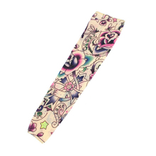 UESH-2 Pcs Star Flower Pattern Fake Tattoo Sleeve cover(China)