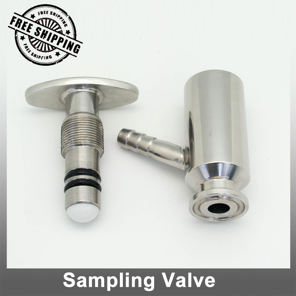 clamp flange sanitary sampling valve with 10mm barb SS304<br><br>Aliexpress