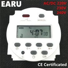 CN101A Timer Switch AC/DC 220V 230V 240V Digital LCD Power Weekly 7days Mini Programmable Time Switch Relay 8A to 16A Auto Smart