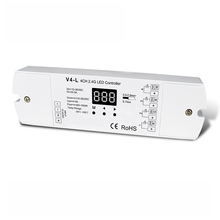 V4-L; 4CH 12-36V 5A constant Voltage Controller;Can work under Stand-alone mode or RF mode(need to buy the remote seperately)