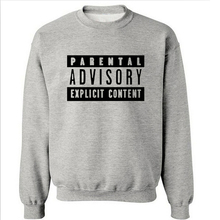 2016 Autumn European Style fashion casual Parental Advisory Explicit Content cotton streetwear men fleece hoodies sweatshirt men