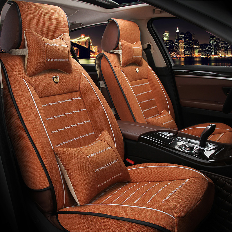 Universal Linen car seat covers For BMW e30 e34 e36 e39 e46 e60 e90 f10 f30 x3 x5 x6 car accessories styling(China (Mainland))
