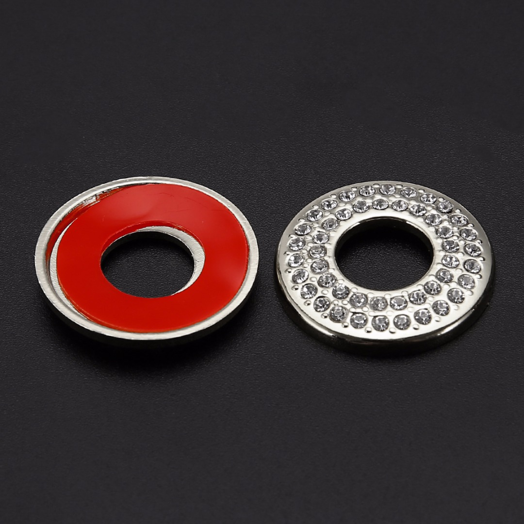 Alloy Red Interior Door Lock Pin Pins Cover Trim for Benz C-Class W205 2015-2018