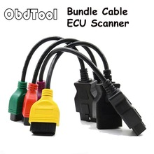 ObdTool for Fiat Ecu Adaptor Fiat Connector OBD2 16Pin 16 Pin OBD Cable for Fiat Four Colors (4 Pieces/ Set)(China)