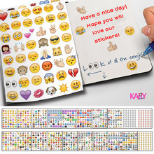 960pcs (20 Sheets) Cute Lovely Die Cut Emoji Smile Face Stickers For Notebook Message High Vinyl Funny Creative Reward Children